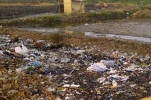 Salah satu lokasi tanah timbul di Kota Cirebon dampak dari pembuangan sampah warga sekitar.