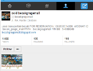 Tampilan Profil Twitter dari Abdul Rosyid alias Ocid. Selain Twitter, Ocid juga aktif di BBM, Facebook, Instagram, Path, WhatsApp dan lainnya.