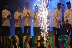 Bupati Cirebon, Drs. H. Sunjaya Purwadi Sastra, MM., Msi. (ujung kiri) membuka MTQ Ke-43 tingkat Kab. Cirebon.