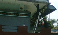 Contoh Pemasangan kamera CCTV di masjid.