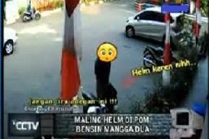 Contoh tampilan dari tayangan sebuah program tentang kumpulan rekaman CCTV di sebuah stasiun televisi swasta nasional.