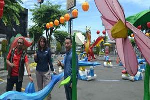 Berita Online Cirebon | Grage Mall Dihiasi Lampu Berkarakter